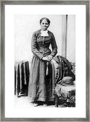 Portrait Of Harriet Tubman Framed Print by H.B. Lindsey