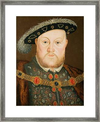 Portrait Of Henry Viii Framed Print by English School