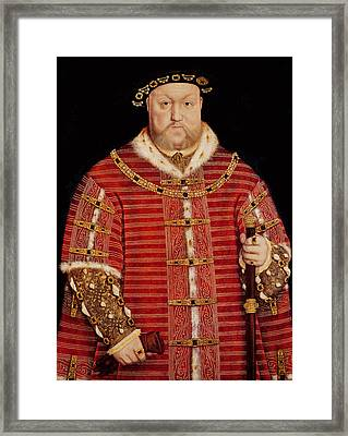 Portrait Of Henry Viii Framed Print by Hans Holbein the Younger