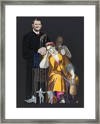 Portrait Of Ignorance - Campaign Finance Reform Framed Print by Michael Fischerkeller