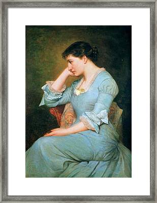 Portrait Of Lillie Langtry  Framed Print by MotionAge Designs
