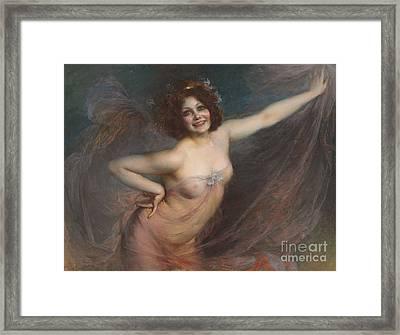 Portrait Of Loie Fuller Framed Print by Felix Hippolyte-Lucas