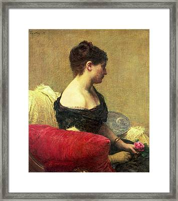 Portrait Of Madame Maitre Framed Print by Ignace Henri Jean Fantin Latour
