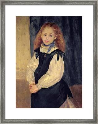Portrait Of Mademoiselle Legrand Framed Print by Pierre Auguste Renoir