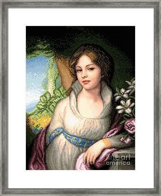 Portrait Of Maria Lopukhina Framed Print by Stoyanka Ivanova