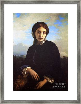 Portrait Of Maria Pucci  Framed Print by Ernest Hebert