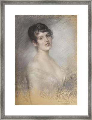 Portrait Of Marie Albermahrova Framed Print by MotionAge Designs