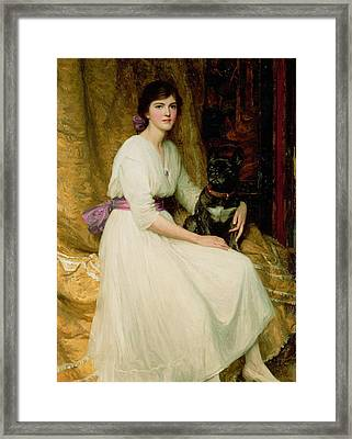 Portrait Of Miss Dorothy Dicksee  Framed Print by Sir Frank Dicksee