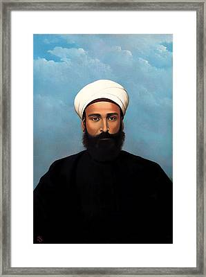 Portrait Of Mohamed Darouich Al Allousi Framed Print by Mountain Dreams