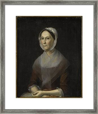 Portrait Of Mrs Framed Print by William