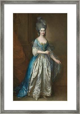 Portrait Of Mrs William Villebois Framed Print by Thomas Gainsborough
