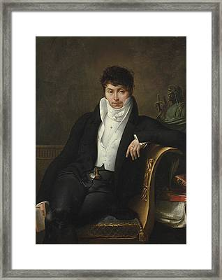 Portrait Of Pierre-jean-george Cabanis Framed Print by Merry-Joseph Blondel