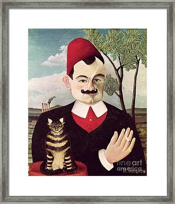 Portrait Of Pierre Loti Framed Print by Henri Rousseau