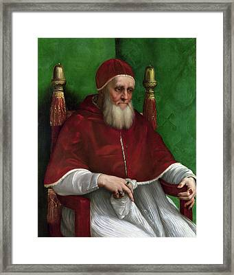 Portrait Of Pope Julius II - 1511 Framed Print by Raphael