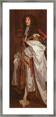 Portrait Of Prince Rupert Framed Print by Sir Peter Lely