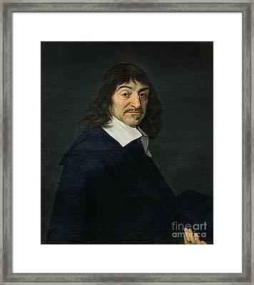 Portrait Of Rene Descartes Framed Print by Frans Hals