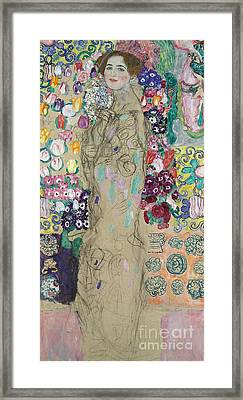 Portrait Of Ria Munk IIi Framed Print by Gustav Klimt