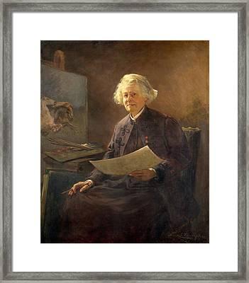 Portrait Of Rosa Bonheur Framed Print by Anna Klumpke