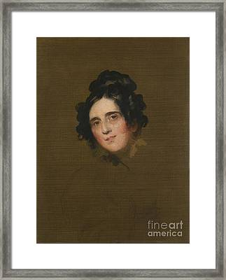 Portrait Of Susan Framed Print by Thomas Lawrence