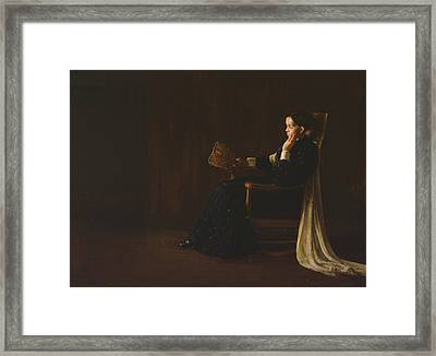 Portrait Of The Artist's Mother  Framed Print by Henry Ossawa Tanner