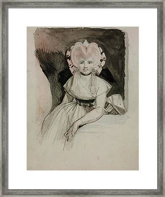 Portrait Of The Artist's Wife Framed Print by Henry Fuseli