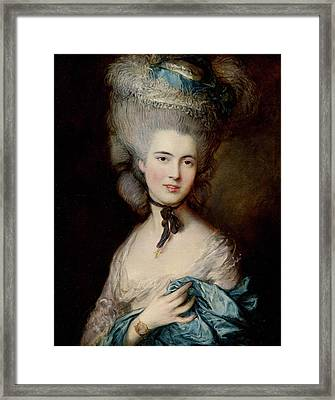 Portrait Of The Duchess Of Beaufort Framed Print by Thomas Gainsborough