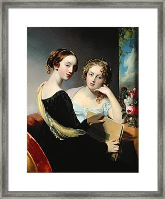 Portrait Of The Mceuen Sisters Framed Print by Thomas Sully