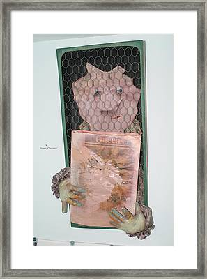 Portrait Of The Oddist Framed Print by Michael Jude Russo
