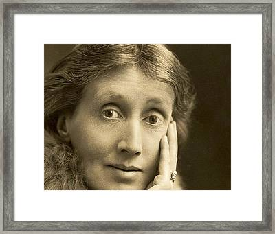 Portrait Of Virginia Woolf, 1927 Framed Print by English School