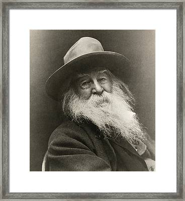 Portrait Of Walt Whitman Framed Print by George Cox