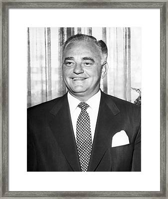 Portrait Of Wilbur Clark Framed Print by Underwood Archives