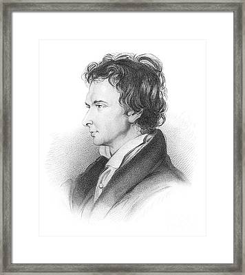 Portrait Of William Hazlitt Framed Print by  William Bewick