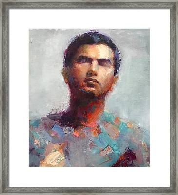Portrait Framed Print by Swasti Jain