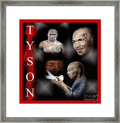 Portraits Of Tyson Framed Print by Jim Fitzpatrick
