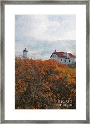 Portsmouth Harbor Lighthouse Framed Print by Marcia Lee Jones