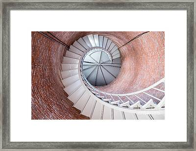 Portsmouth Harbor Lighthouse Spiral Framed Print by Dawna Moore Photography