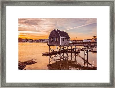 Portsmouth Sunset Framed Print by Edward Fielding