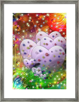 Porzellanblumen Framed Print by Eva Borowski