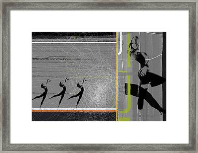 Pose And Jump Framed Print by Naxart Studio