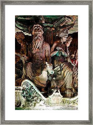 Poseidon And Friends Framed Print by Christopher Holmes