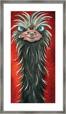 Poser 3 Framed Print by Leah Saulnier The Painting Maniac