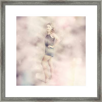 Posh Retro Fashion Pinup Framed Print by Jorgo Photography - Wall Art Gallery
