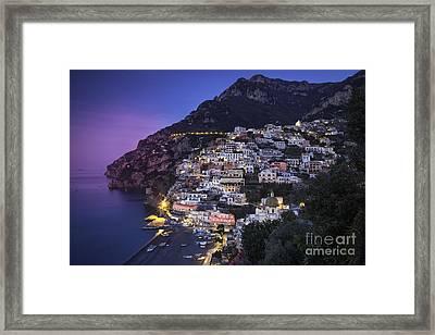 Positano Twilight Framed Print by Brian Jannsen