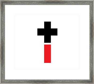Positive And Negative Cross Framed Print by Marianna Mills