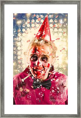 Possessed Dead Girl At Nightclub Wake. Monster Rave Framed Print by Jorgo Photography - Wall Art Gallery