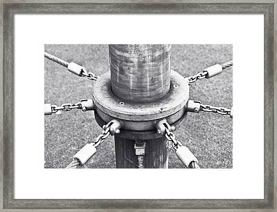 Post And Chains Framed Print by Tom Gowanlock