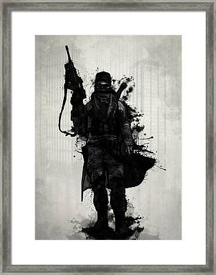 Post Apocalyptic Warrior Framed Print by Nicklas Gustafsson