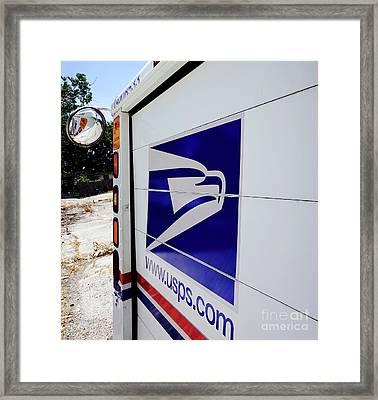 Post Office Truck Framed Print by Kenneth Lempert