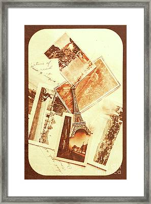 Postcards And Letters From The City Of Love Framed Print by Jorgo Photography - Wall Art Gallery