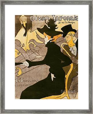 Poster Advertising Le Divan Japonais Framed Print by Henri de Toulouse Lautrec